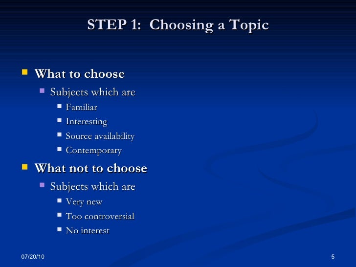 how to choose the topic for Choose a topic that interests you use the following questions to help generate topic ideas do you have a strong opinion on a current social or political controversy.