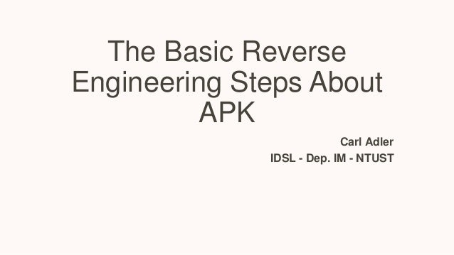 Basic reverse engineering steps about  apk file