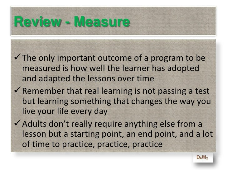 """6. Measure<br />This is all about the """"E"""" <br />in CBE – Experiential<br />Guess What? <br />Experience is the best teache..."""