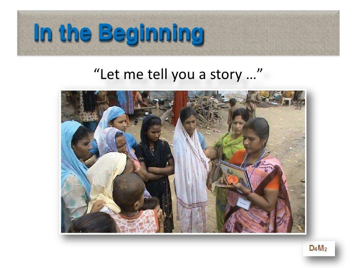 """In the Beginning<br />""""Let me tell you a story …""""<br />In the Beginning<br />"""