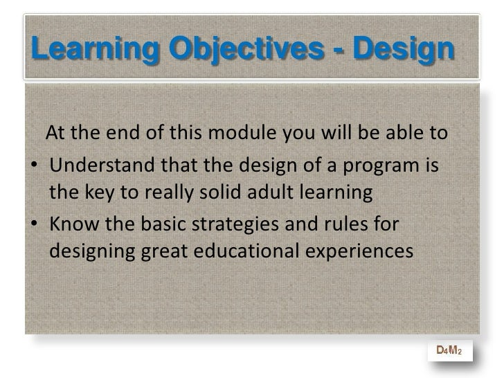 Develop a program that enables that learning process – treat everyone as brilliant - and you and your adult learners win!<...