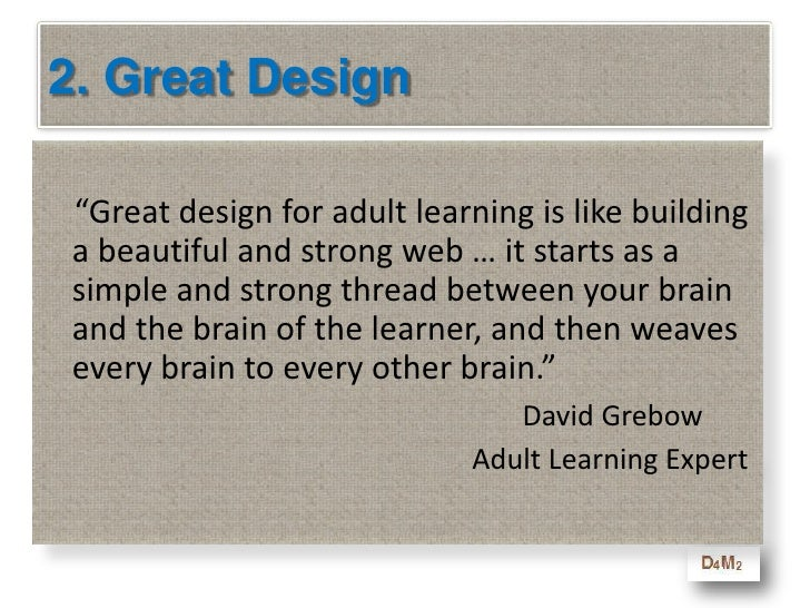 2. Some Design Rules<br />      All exercises find out who learned the lesson OR who missed the point – not who is right o...