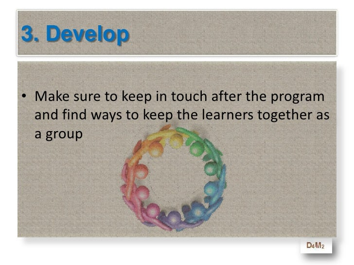 3. Develop<br />Stick with what you have learned from the the D4M2 Method as you enter the Develop phase<br />Make it as i...