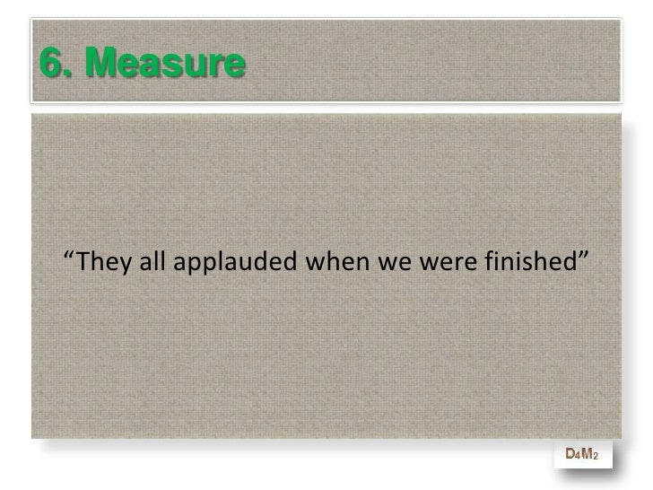 Learning Objectives - Measure<br />At the end of this module you will be able to<br />Understand why the standard measurem...