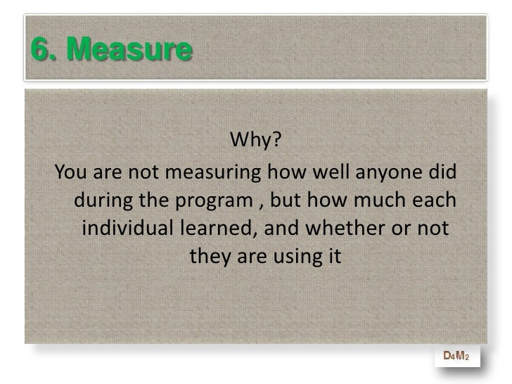 """6. Measure<br />""""Be honest …they had no choice!""""<br />"""