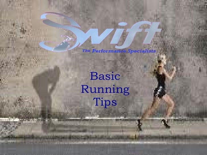 Basic Running Tips