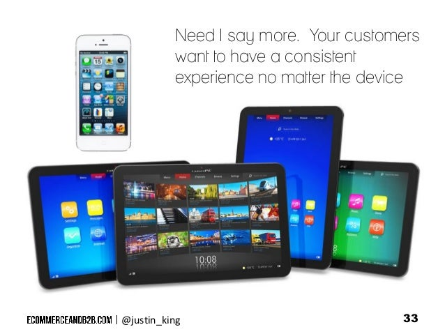 Need I say more. Your customers want to have a consistent experience no matter the device  @justin_king  33