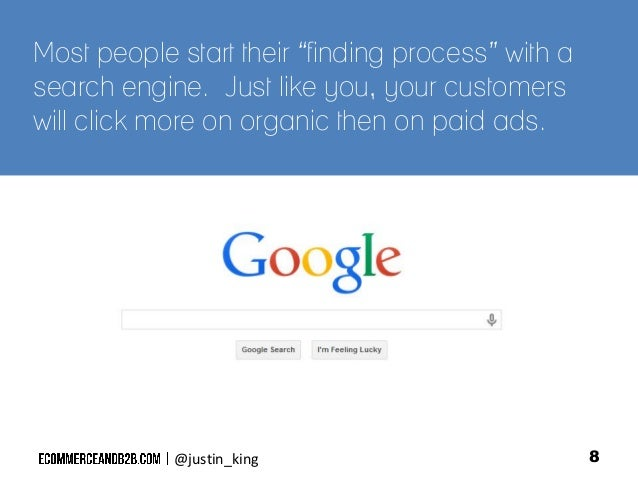 """Most people start their """"finding process"""" with a search engine. Just like you, your customers will click more on organic t..."""