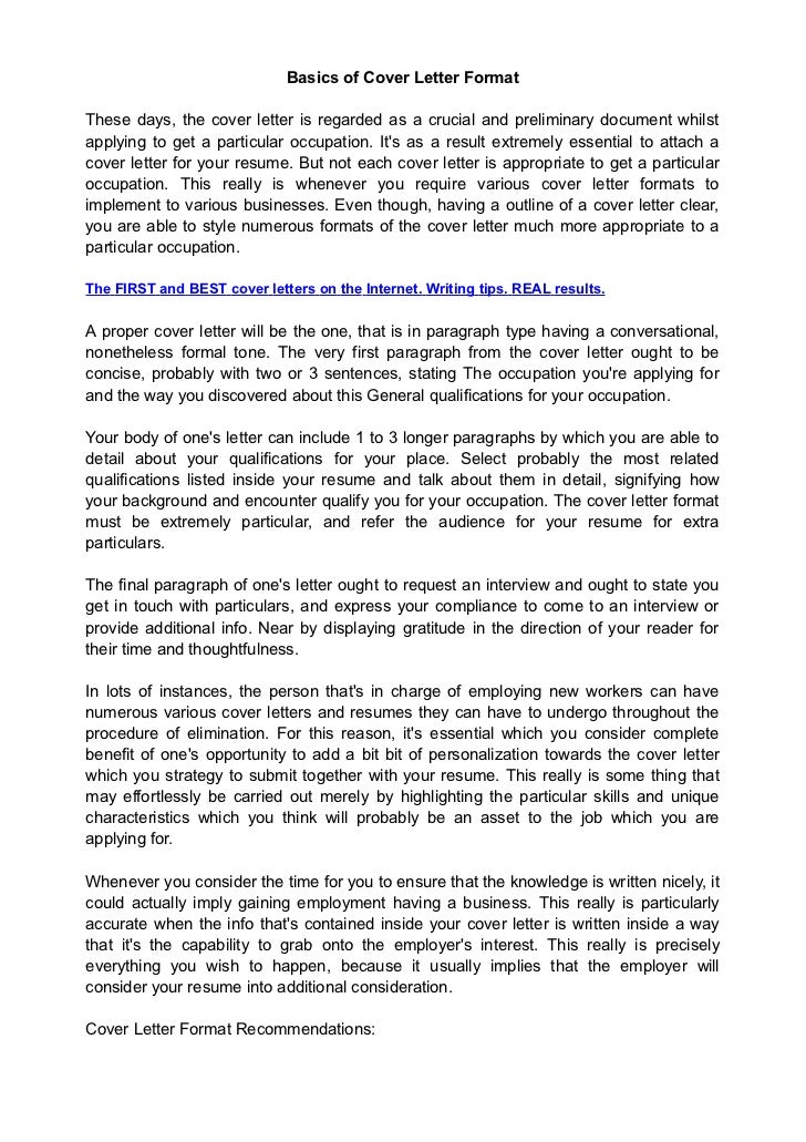 Proper Cover Letter Format 40 Best Cover Letter Examples Images On ...