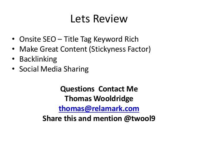Basics of SEO for Personal Branding and Marekting