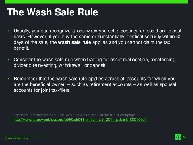 Wash sale rule forex