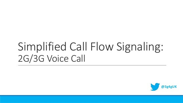 Simplified Call Flow Signaling: 2G/3G Voice Call