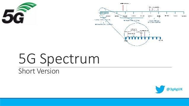 5G Spectrum Short Version @3g4gUK