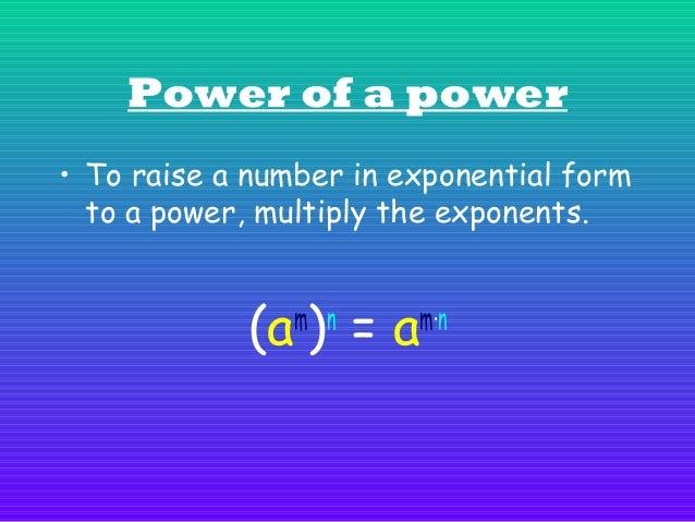 Example: ( 4 ) = 4 = 4 2 3  3×2  6