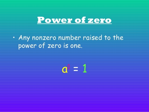 Quotient of powers • To find the quotient of powers with the same base, subtract the exponents.  a =a n a m  m-n