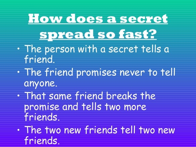 • The two new friends decide to tell two more friends. • This pattern occurs over and over until many people have been tol...