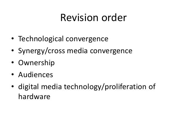 media convergence worksheet What is meant by the term media convergence with regard to technology, and how has it affected everyday life what is meant by the term media convergence with regards to technology means simply the merging of different content in different media channels an example of that would be books, newspapers, and magazines wh.