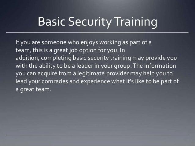 Basic security training