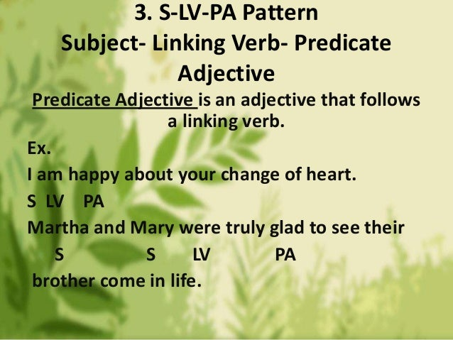 predicate and following sentences