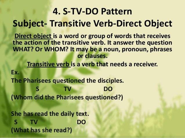 5 basic sentence pattern examples.
