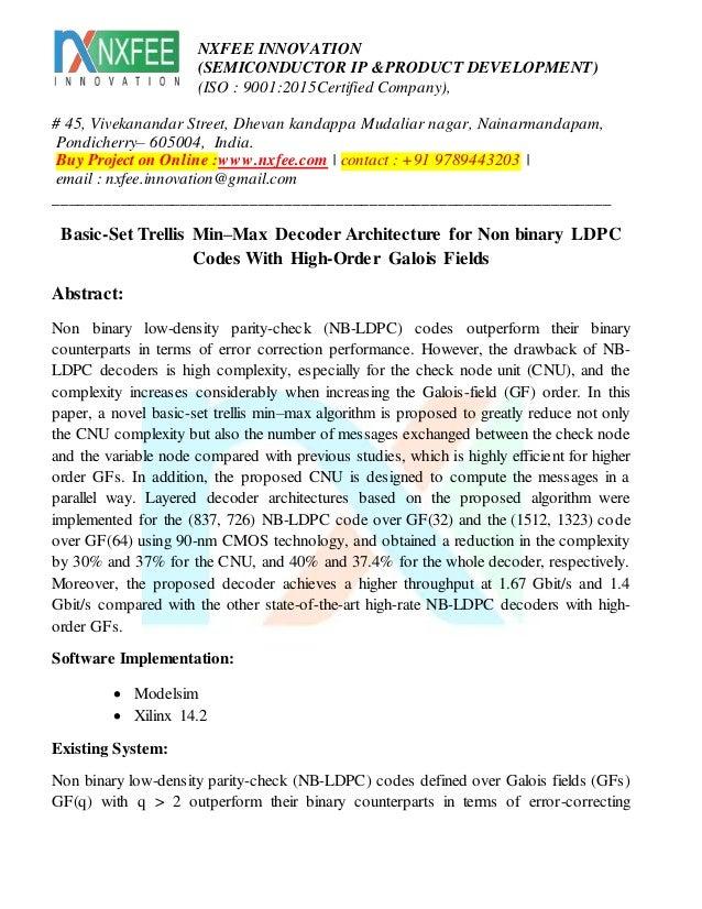 Basic set trellis min max decoder architecture for non