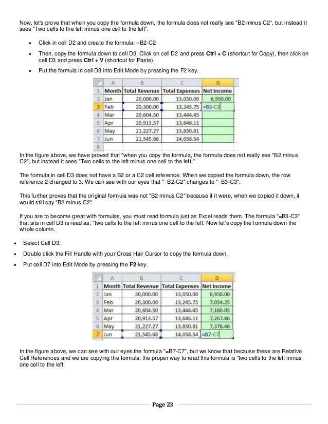 Basics excel 20102