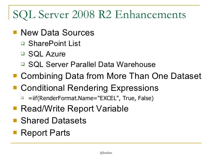 Report writing services with sql server