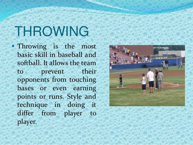 basic skills in baseball