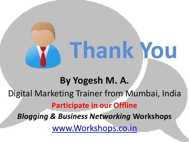 Basic Social Media Marketing Course for Sales & Marketing Professionals on Digital Neighborhood Marketplaces