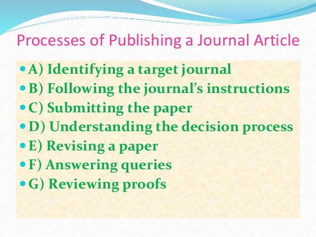 rules for publishing a research paper The research paper format may be difficult to master but you will risk not being taken seriously, if you try to avoid the main rules.