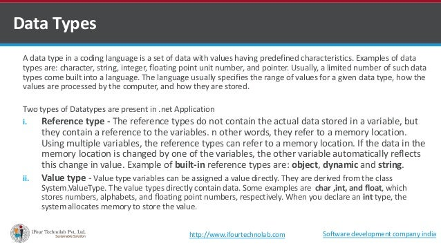 A data type in a coding language is a set of data with values having predefined characteristics. Examples of data types ar...