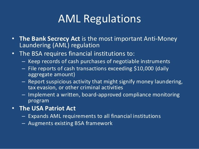 FinCen Affirms Bank Secrecy Act (BSA) Isn't Just for Banks