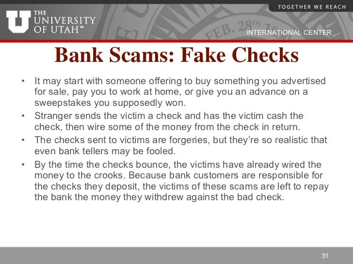 Basics of banking in the us bank scams fake checks altavistaventures Image collections