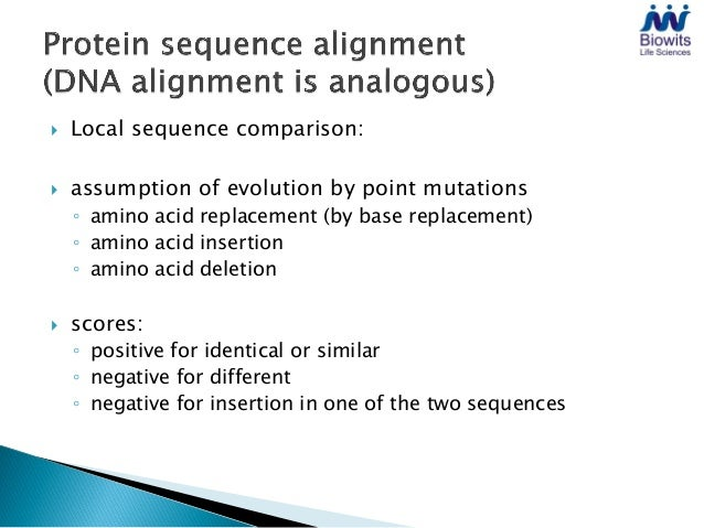    Simple comparison without alignment   Similarities between sequences show up in 2D diagram