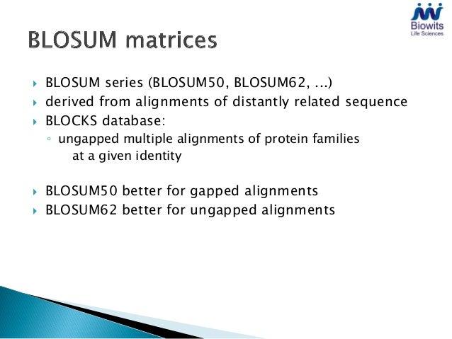 Blosum62 substitution matrix