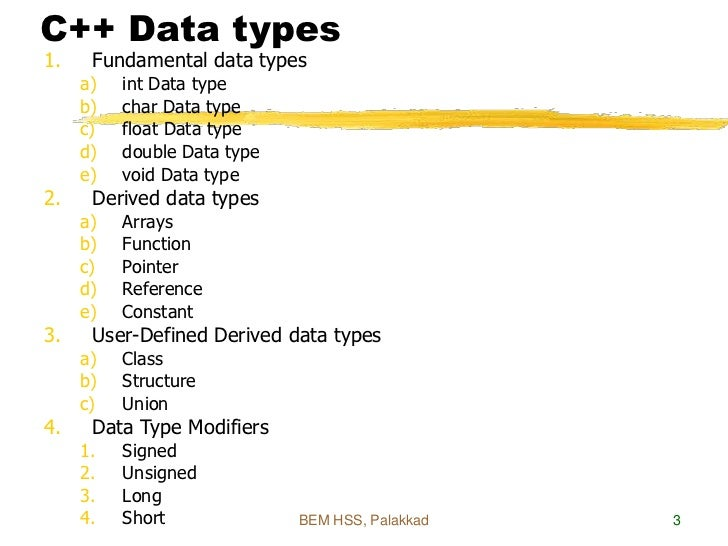 derived data types in c++ pdf