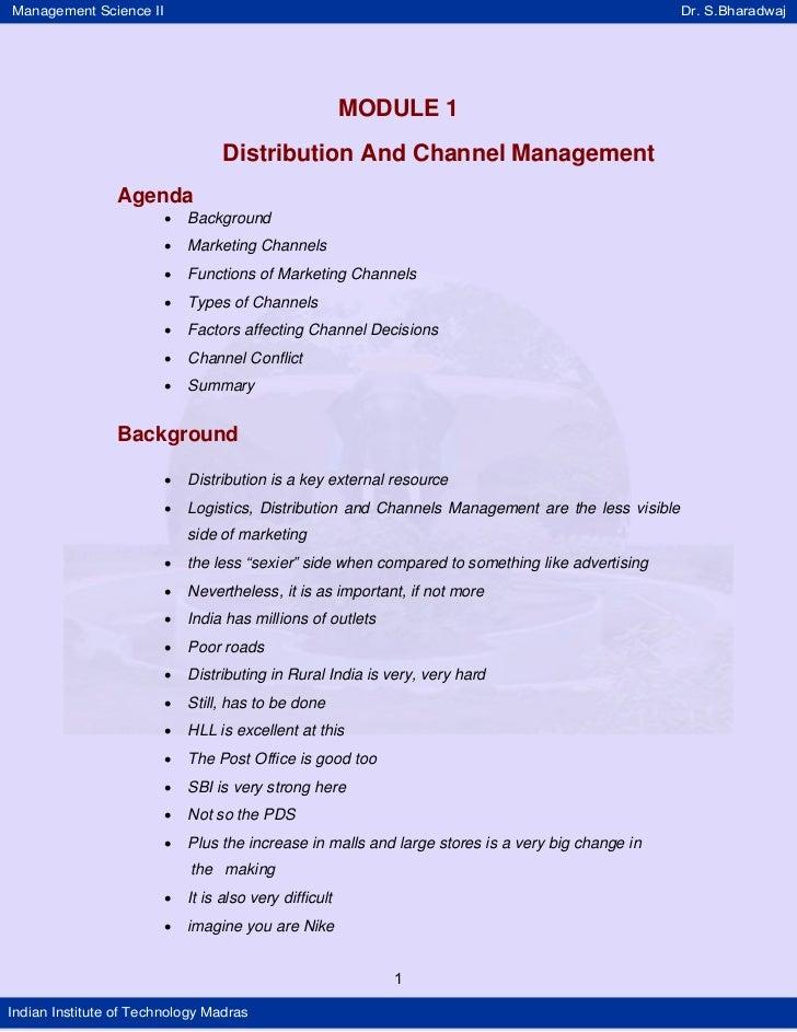 Management Science II                                                                              Dr. S.Bharadwaj        ...