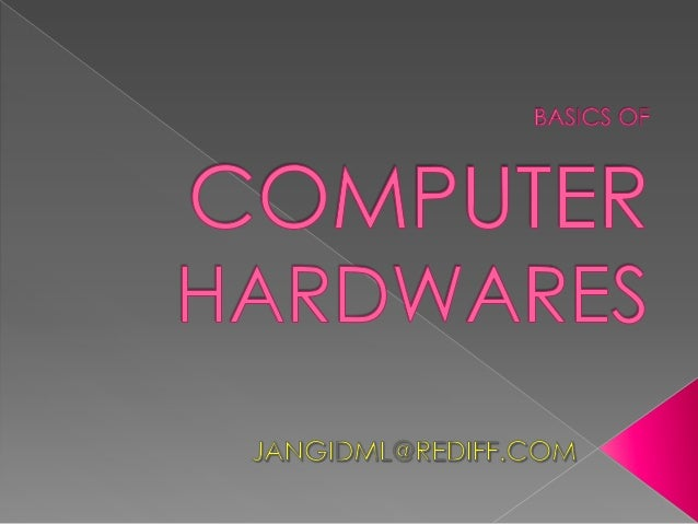    Computer is an electronic    device.       It    consist    hardware & software .    Problems given through    input d...