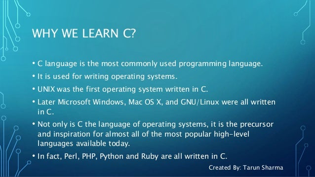 Introduction Of C Programming
