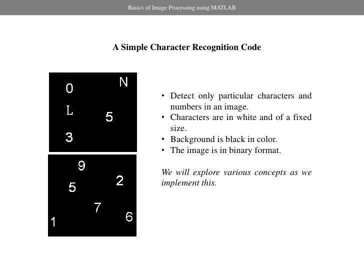 Basics Of Image Processing Using Matlab