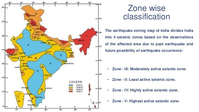Basics of earthquake engineering zone wise classification the earthquake zoning map gumiabroncs Gallery