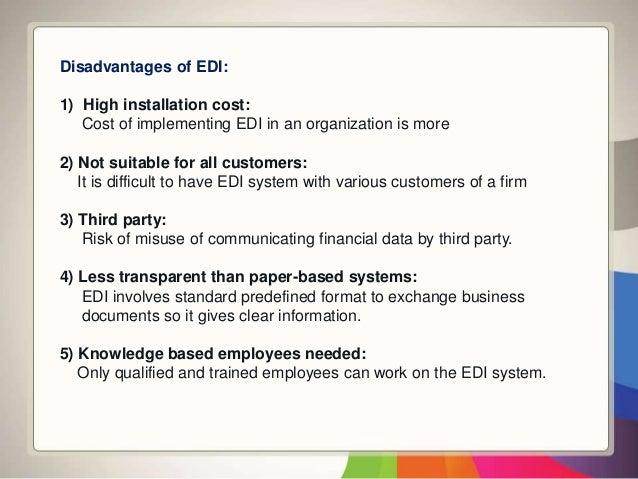 electronic data interchange advantages and disadvantages Basics of ecommerce part2