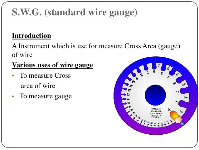 Basics of electrical engineering 13 swg standard wire gauge introduction a instrument greentooth Image collections
