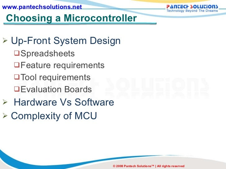 the basic concepts of embedded systems A microprocessor is a computer processor that incorporates the functions of a central processing unit on a single integrated circuit (ic), or at most a few integrated circuits the microprocessor is a multipurpose, clock driven, register based, digital-integrated circuit that accepts binary data as input, processes it according to instructions stored in its memory, and provides results as output.