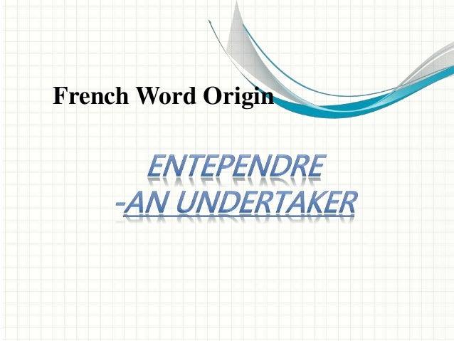 French Word Origin