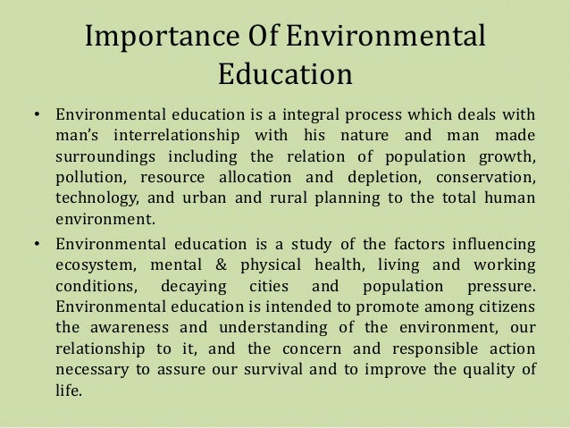 Essay on importance of environmental studies