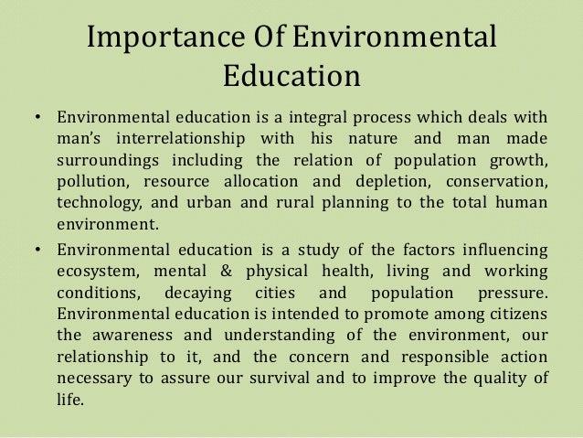 Essay on importance of environmental studies