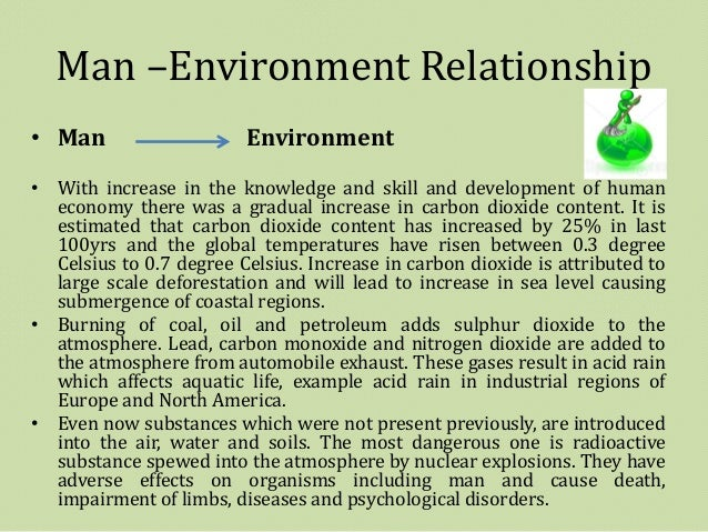 relationship of man and his environment