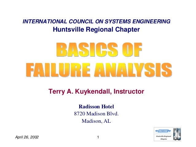 HHuunnttssvviillllee RReeggiioonnaall CChhaapptteerr April 26, 2002 1 INTERNATIONAL COUNCIL ON SYSTEMS ENGINEERING Huntsvi...