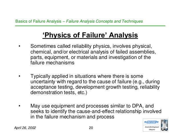 an analysis of failure